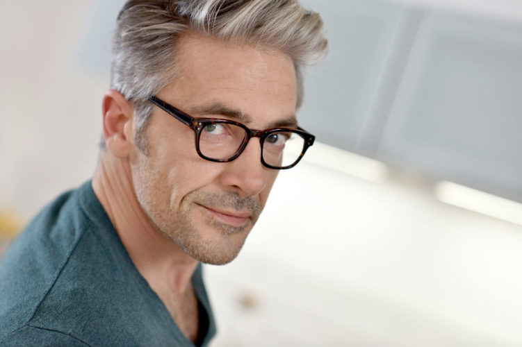 Gray hair management for men